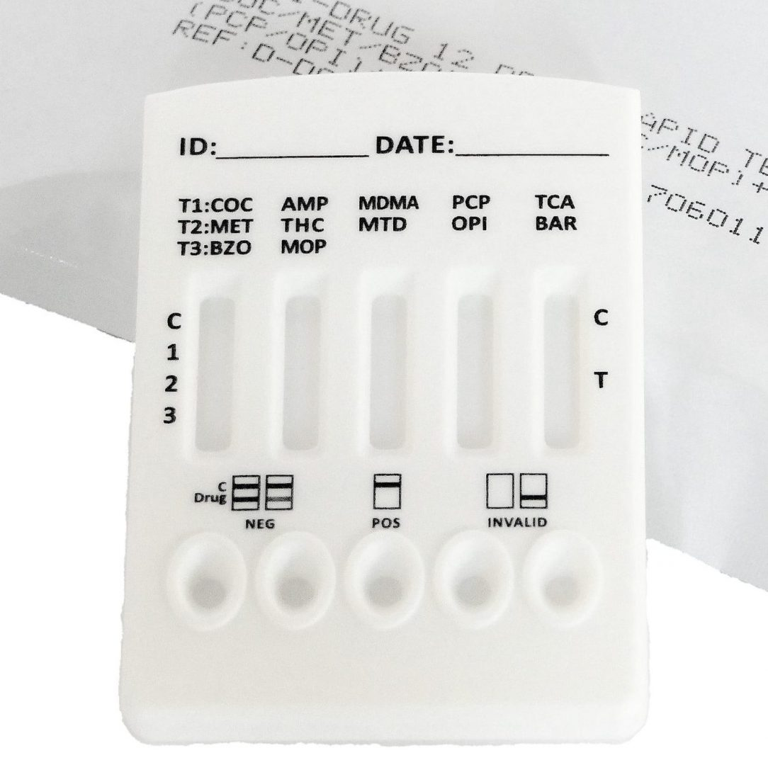 DOA strips and devices for urine samples